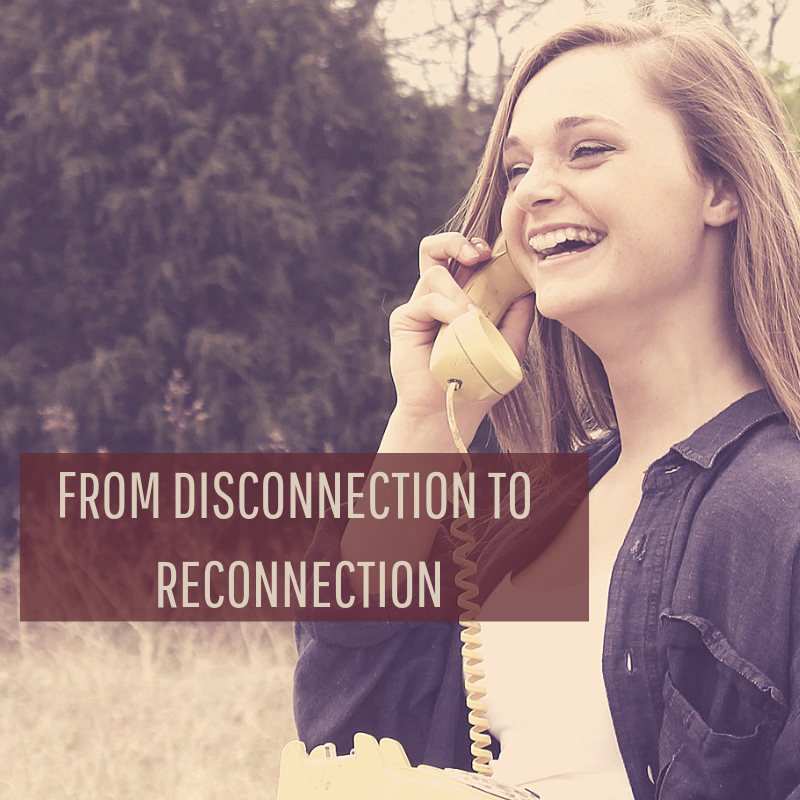 From Disconnection to Reconnection Girl Talking on the Phone