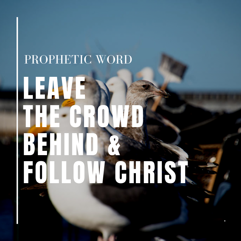 Leave the Crowd Behind and Follow Christ Prophetic Word