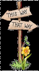 This Way That Way SignPost