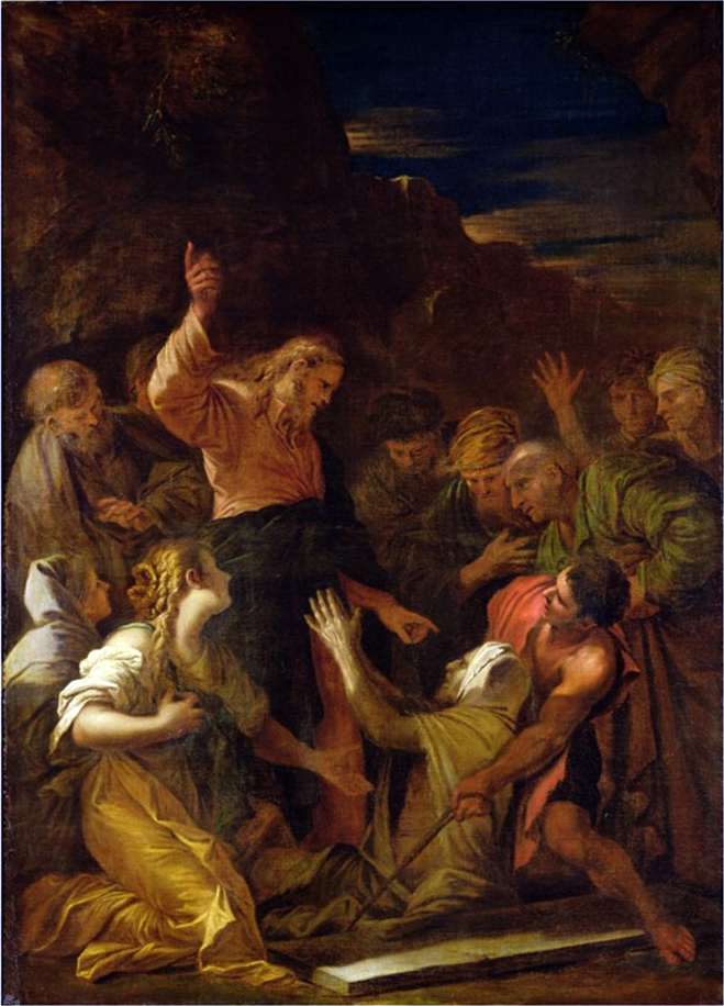 Christ cleansing a leper by Jean-Marie Melchior Doze