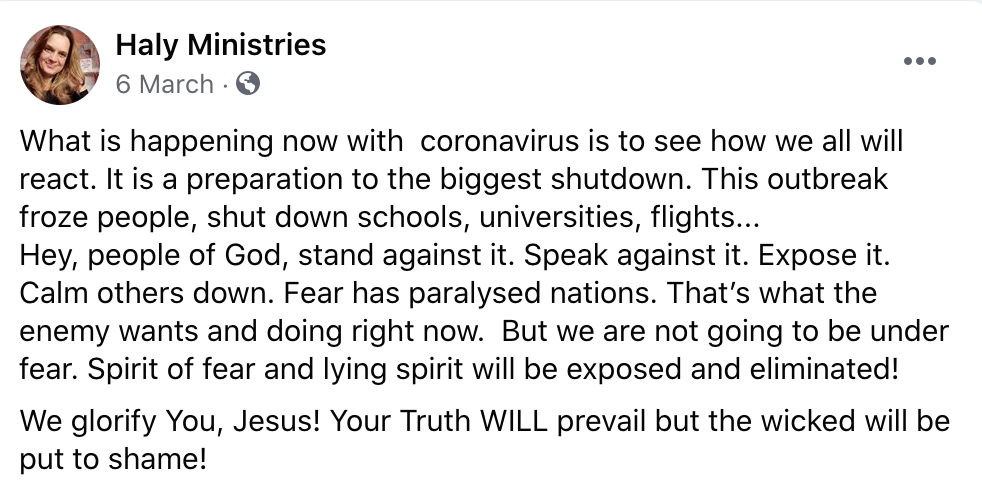 Coronovirus - The Truth will Prevail