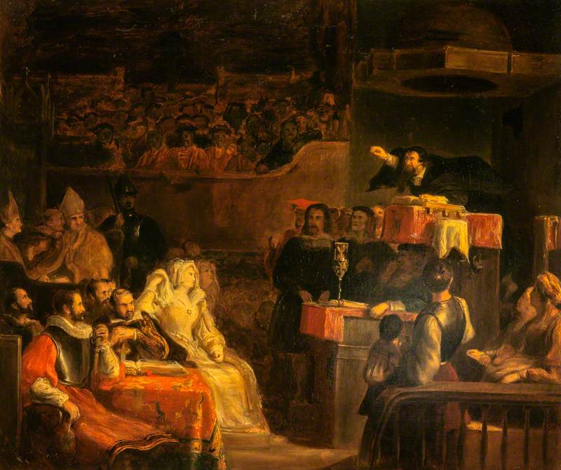 1785-1841; The Preaching of John Knox before the Lords of the Congregation, 10th June 1559
