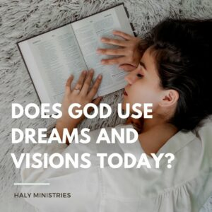 Does God use Dreams and Visions Today - Woman Sleeping with Opened Bible