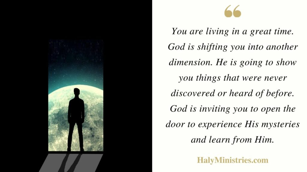 Experience The Mysteries of God - Haly Ministries Quote