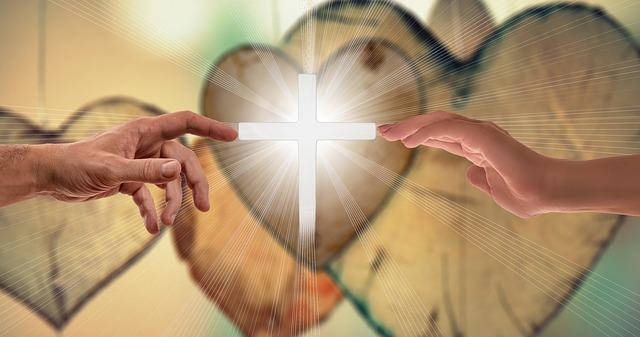 Faith Cross - Two Hands Reaching the Cross