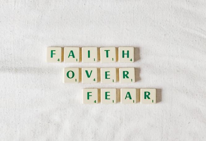 Faith Over Fear - Blocks