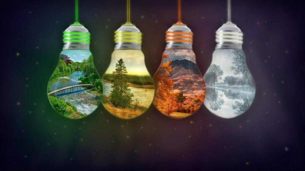 Four Seasons -  Four Light Bulbs