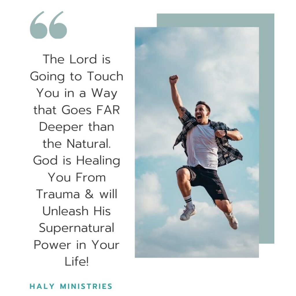 God is Healing you from Trauma - Man Jumps for Joy