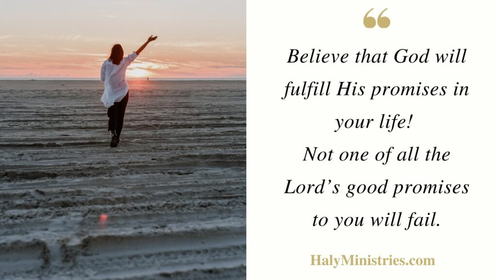 God will Fulfill His Promises - Haly Ministries Quote