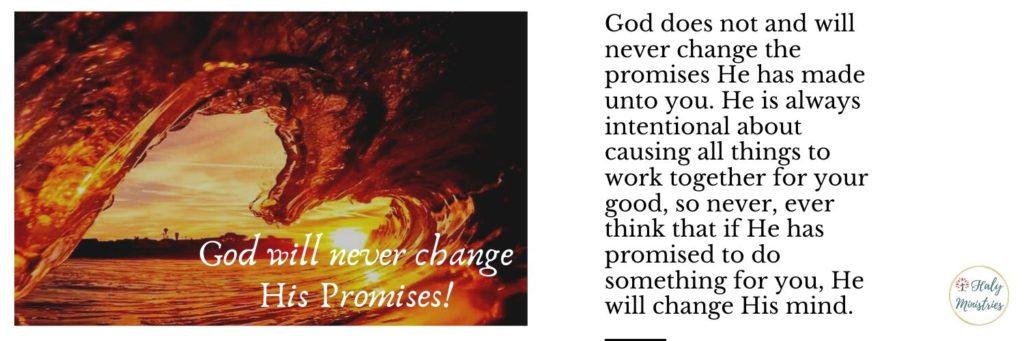 God will never change His Promises - header