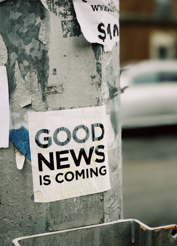 Good News is Coming - Leaflet on The Tree