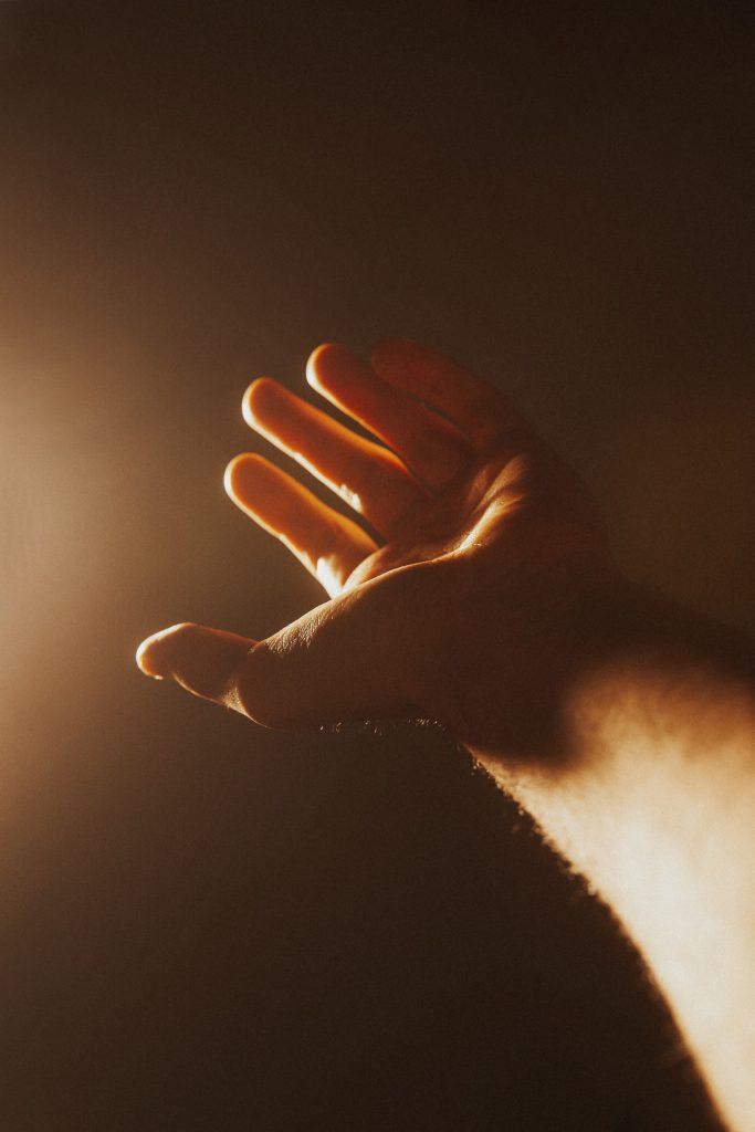 Hand of Man Raised - Freedom