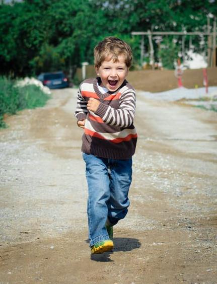 Happy Boy is Running