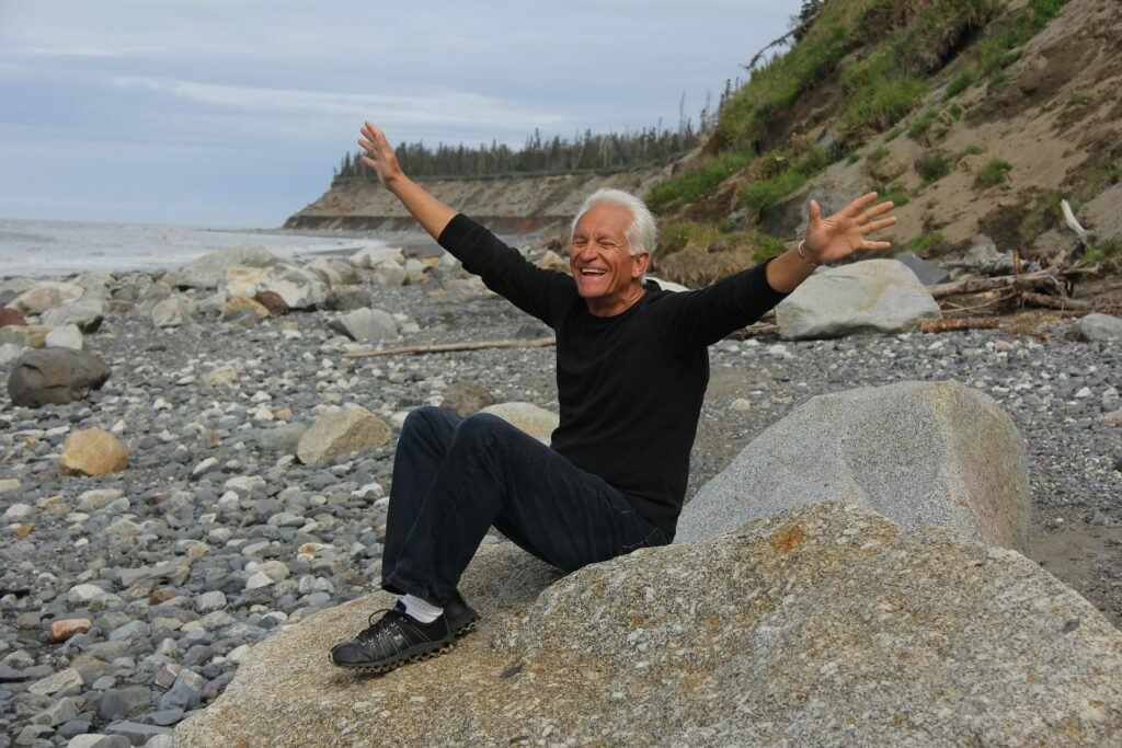 Happy and Healthy Baby Boomer Man by the Sea