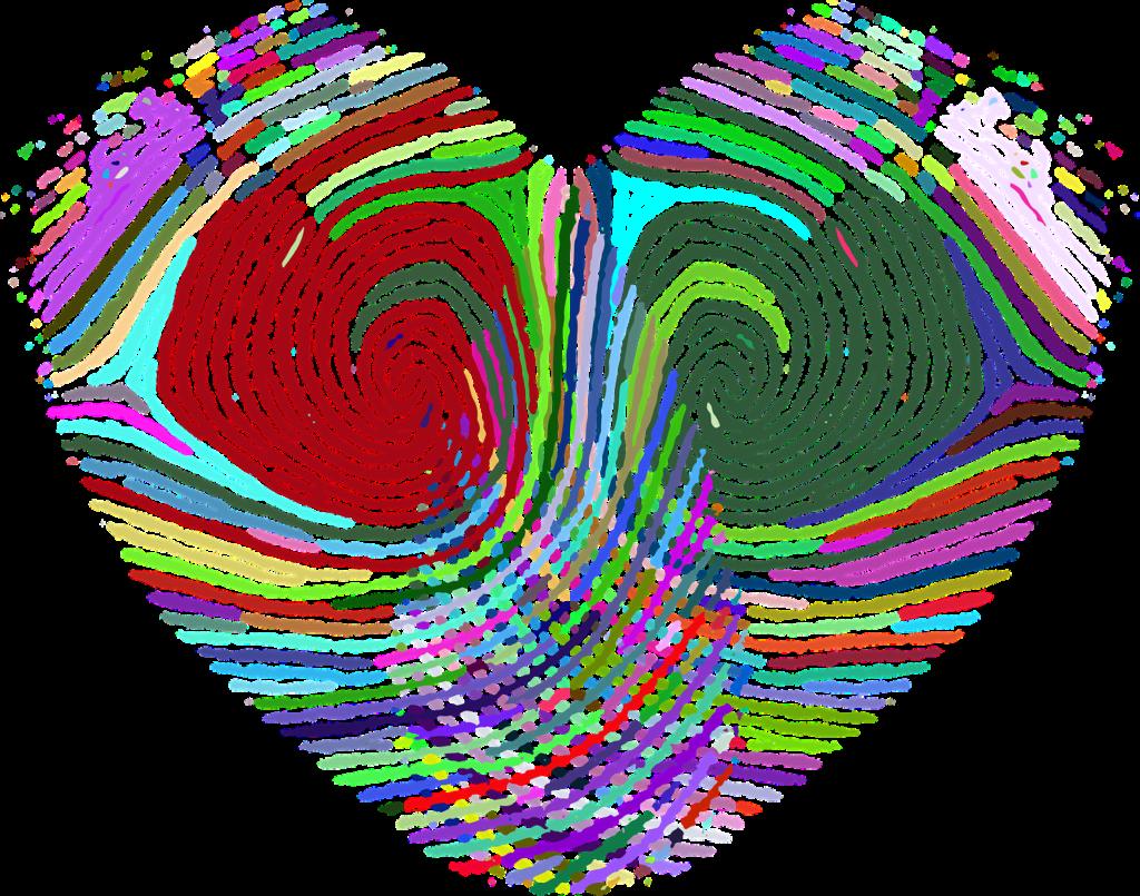 Heart with Fingerprint