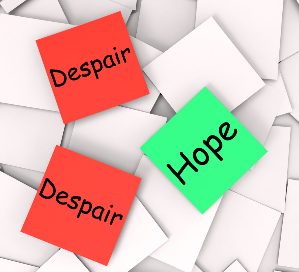 Hope Despair Notes Notes Show Hoping Or Depression