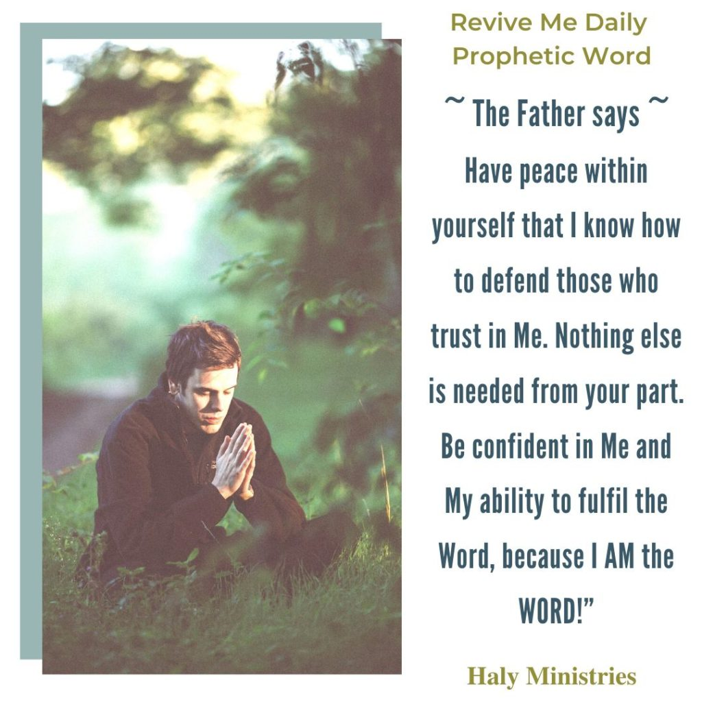 In God We Will Trust - Revive Me Daily Prophetic Word - Man on his Knees Praying