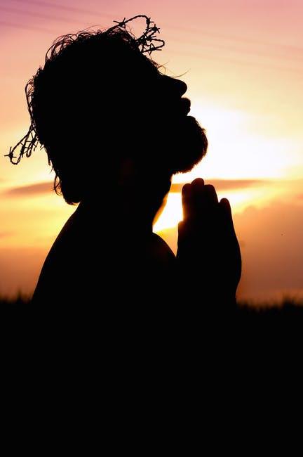 Jesus Praying Crown of Thorns