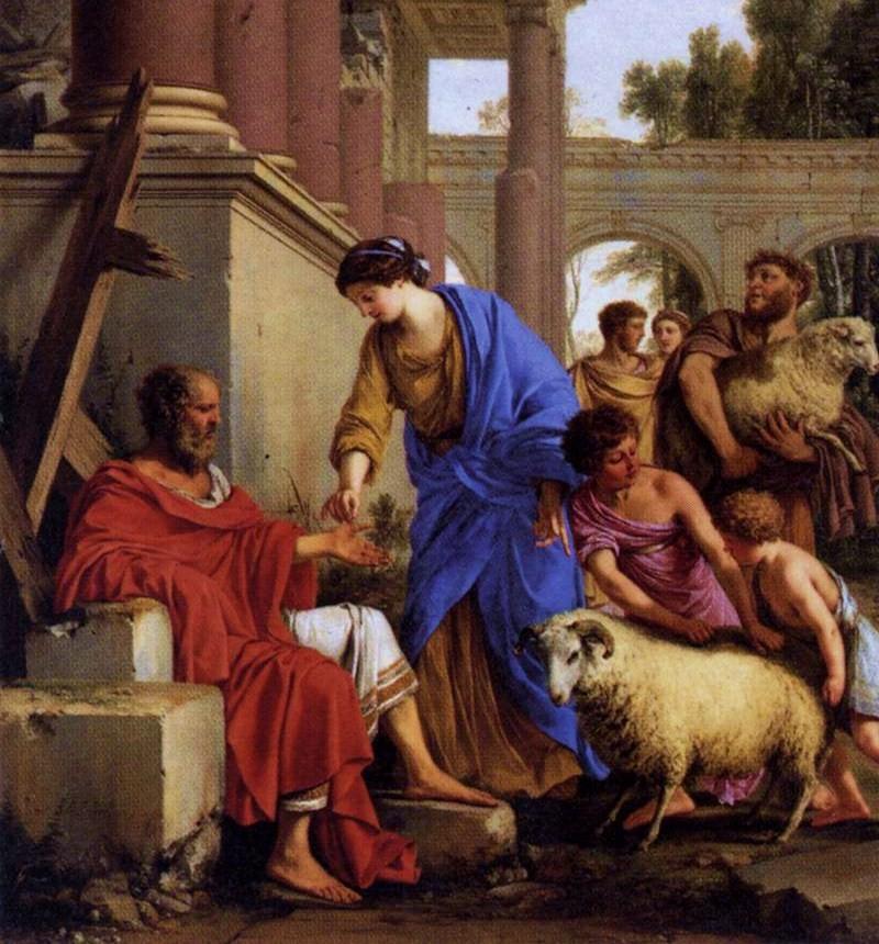 Job Restored to Prosperity by Laurent de La Hyre