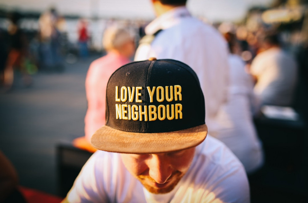 Love Your Neighbour - Written on the Cap