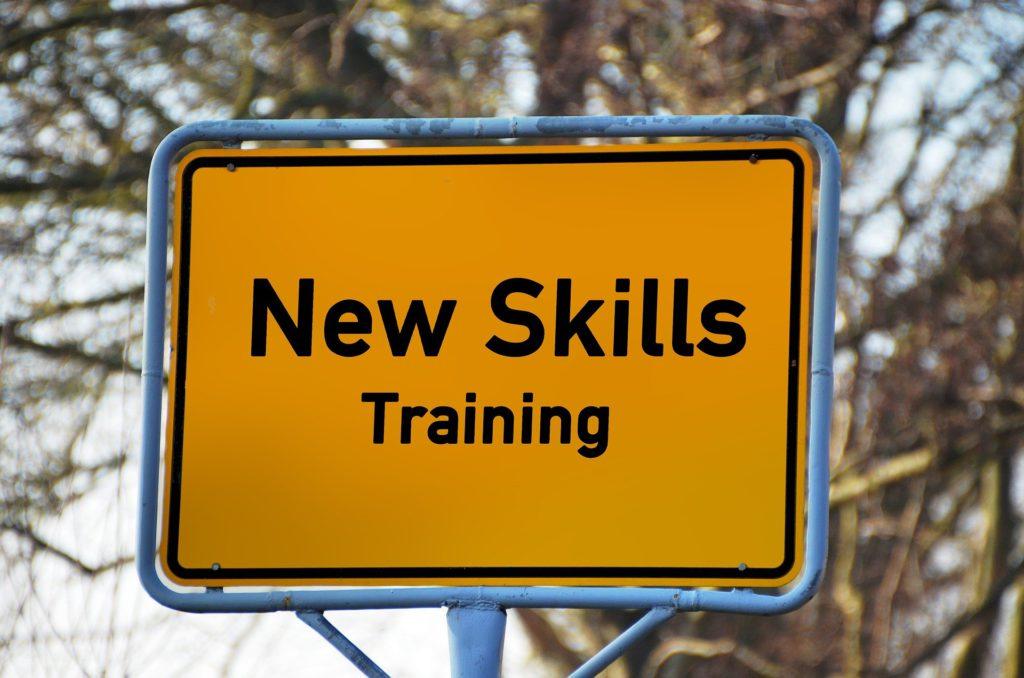 New Skill Road Sign