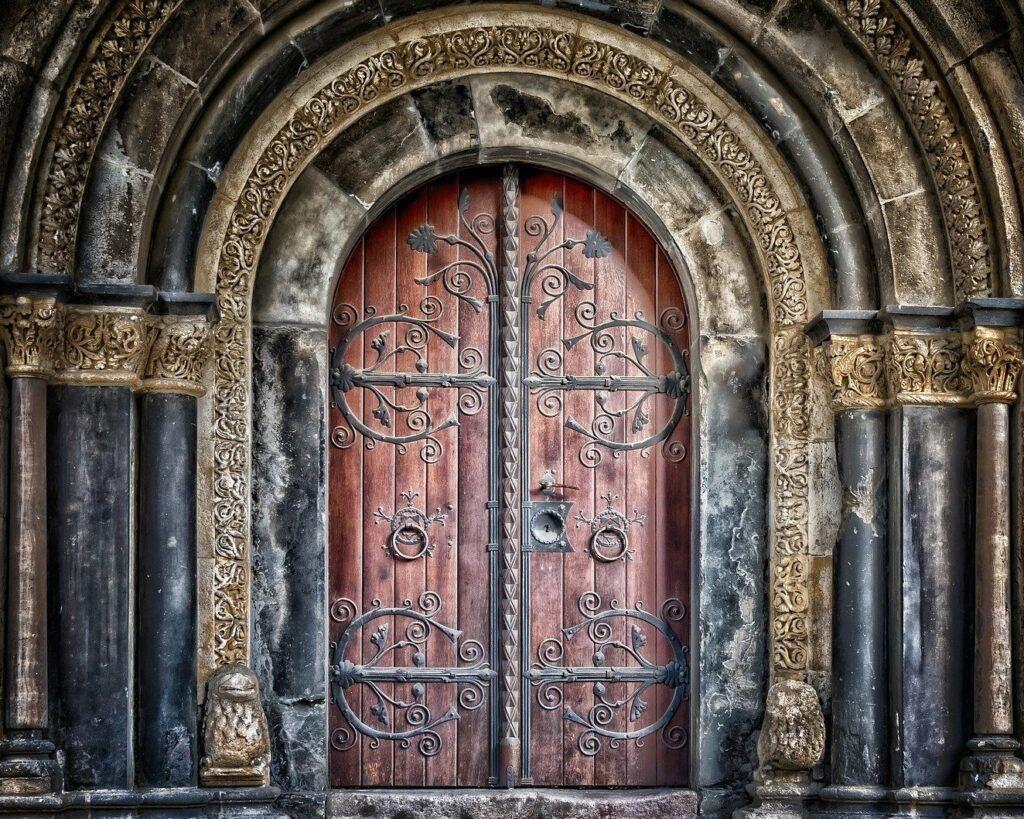 Old Door with Portal