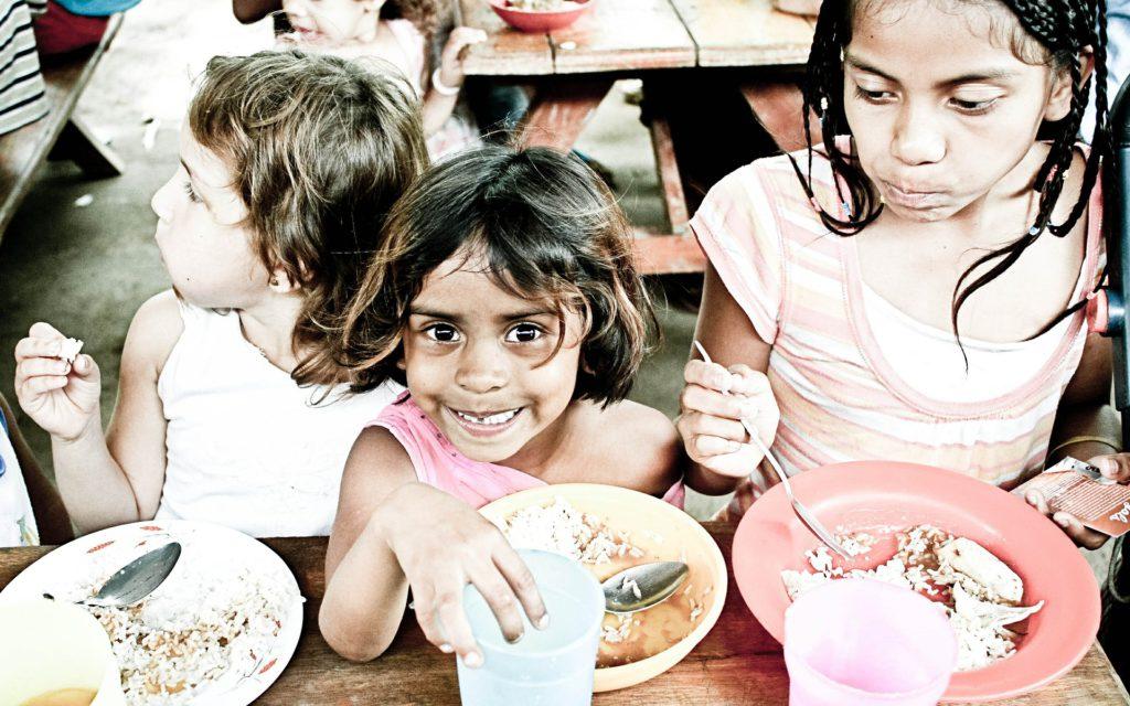Orphans Kids Eating