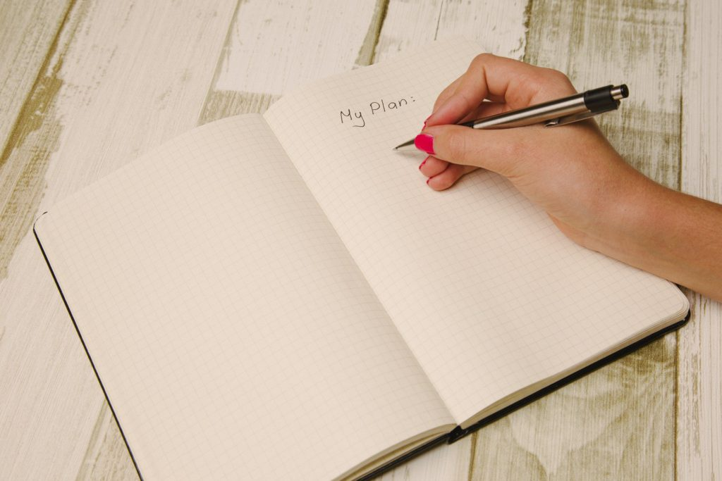 Plan with God - Writing by Hand in a Planner
