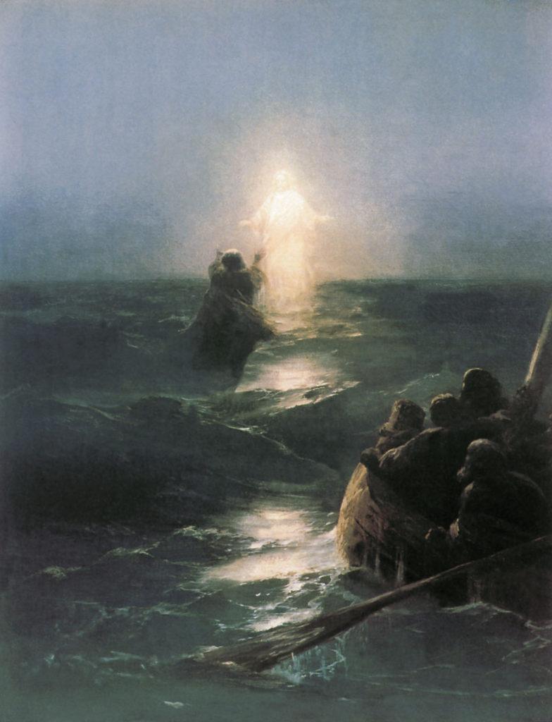 Po Vodam - Jesus walks on the water by Ivan Aivazovsky