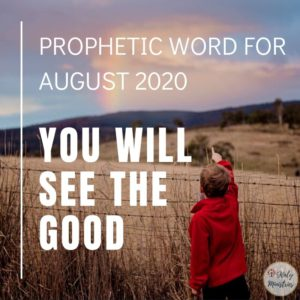 Prophetic Word for August 2020 - You Will See the Good