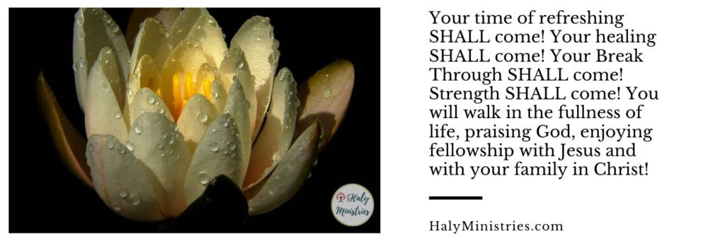 Prophetic Word for October 2019 - The Times of Refreshing SHALL Come - header