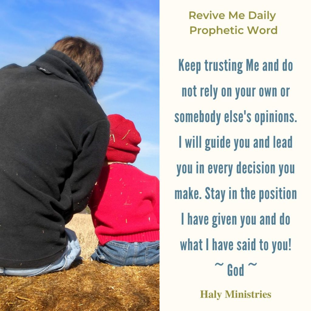 Revive Me Daily Prophetic Word - God's Advice is the Best