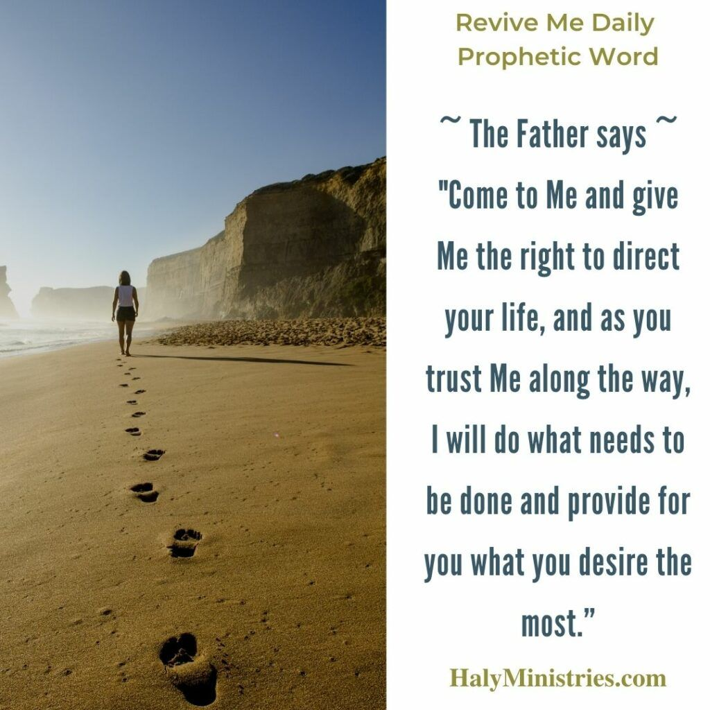 Revive Me Daily Prophetic Word - God Sees the Way Ahead quote