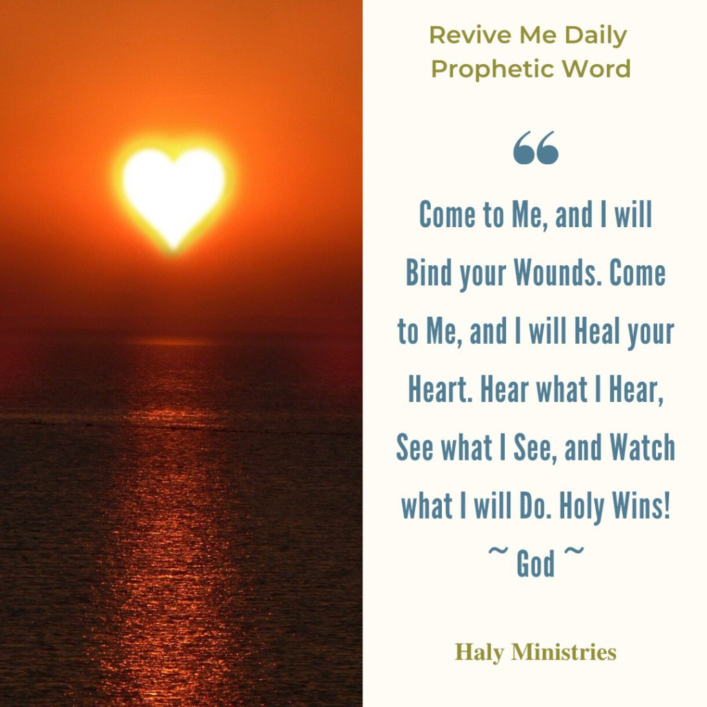 Revive Me Daily Prophetic Word - Holy Wins