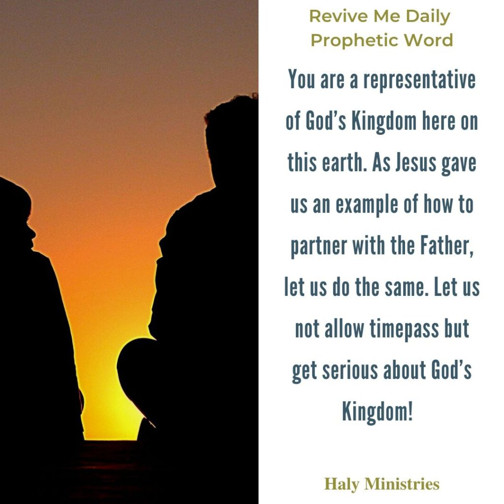 Revive Me Daily Prophetic Word Invitation to Partnership with God