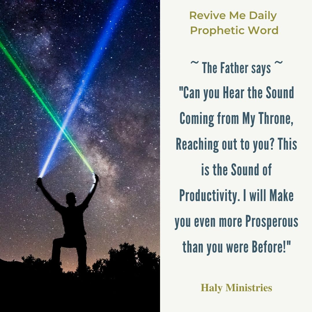 Revive Me Daily Prophetic Word More Productive Than Ever Before - Man with Two Torches Making Cross
