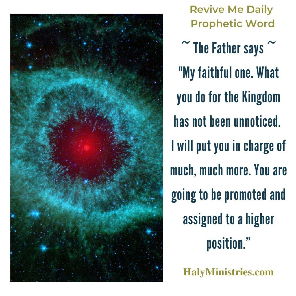 Revive Me Daily Prophetic Word - My Faithful One, You are Noticed