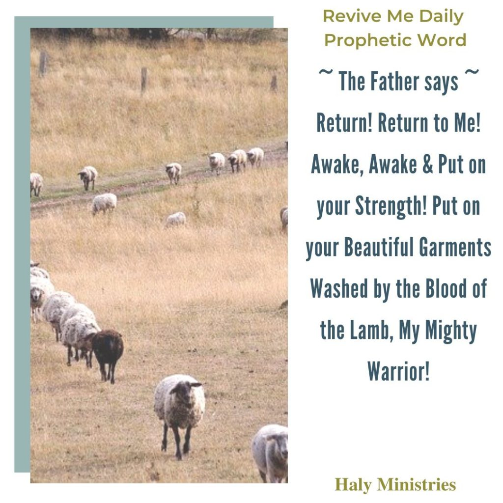 Revive Me Daily Prophetic Word Return to God