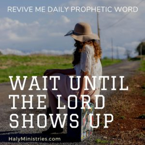 Revive Me Daily Prophetic Word - Wait Until the Lord Shows Up