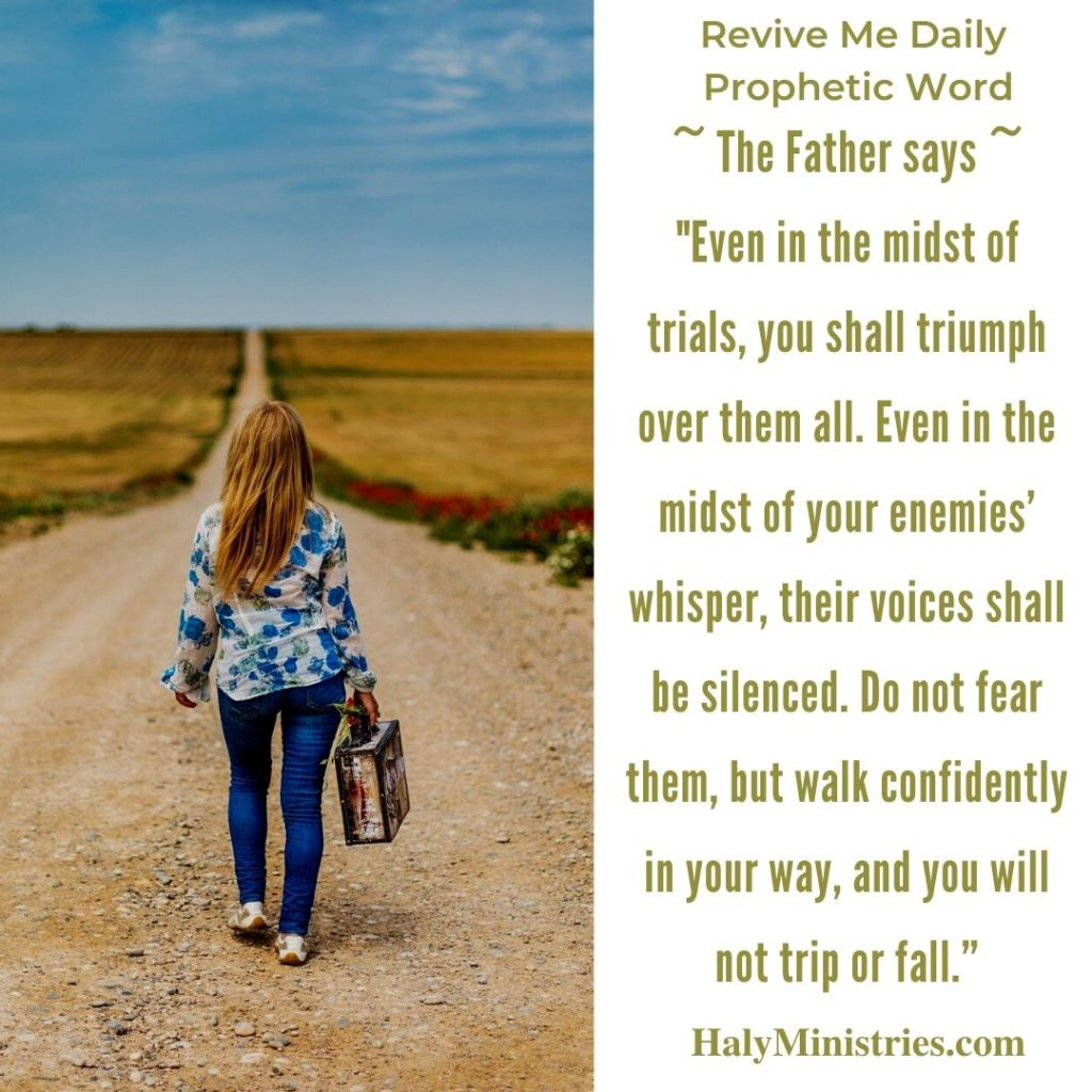 Revive Me Daily Prophetic Word - You are on a New Road quote