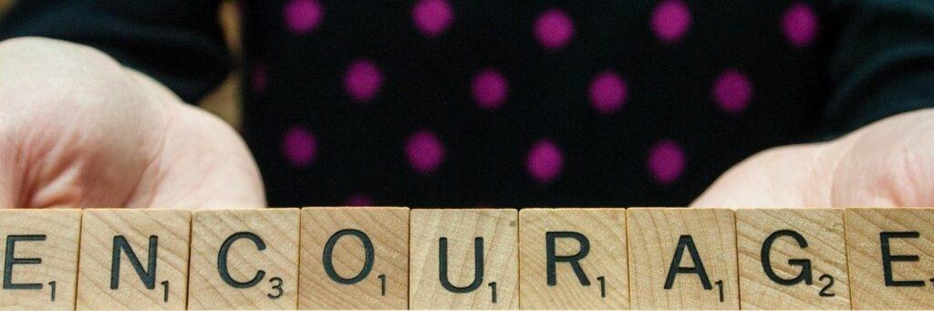 Scrabble Word - Encourage