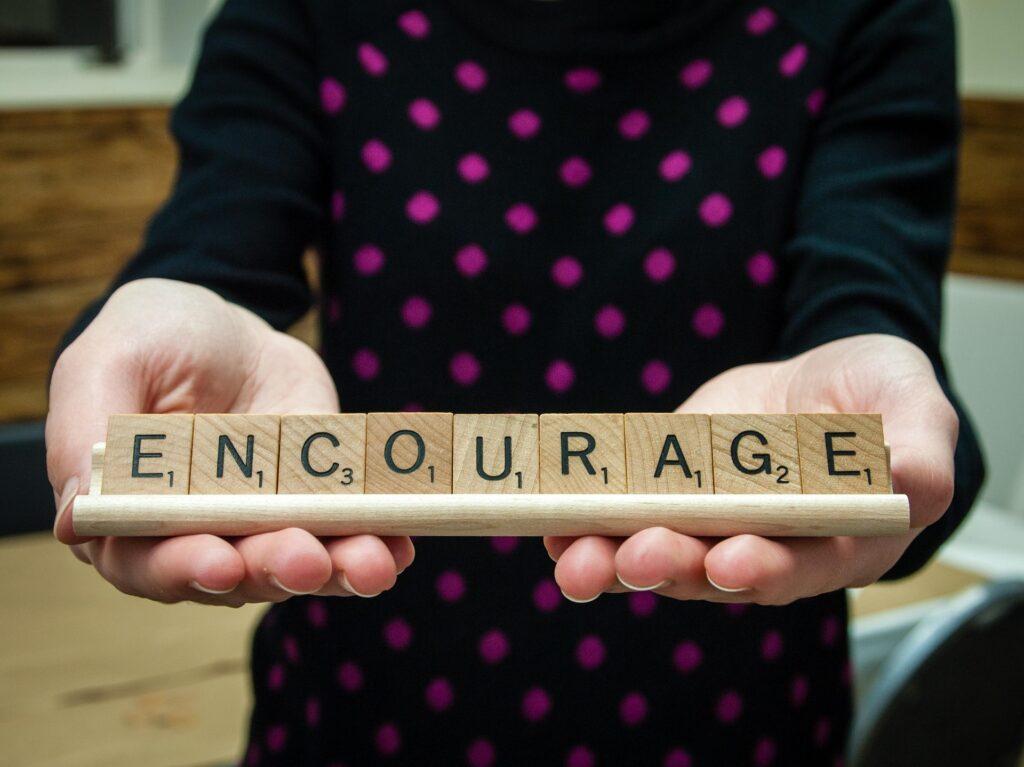 Scrabble Word Encourage