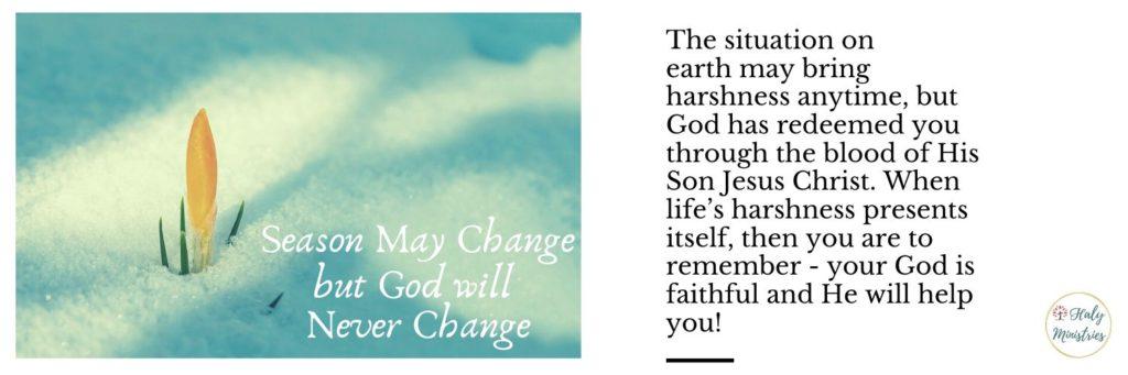 Season May Change but God will Never Change - header