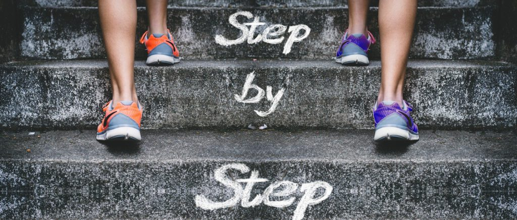 Step by Step - Two People Going Up