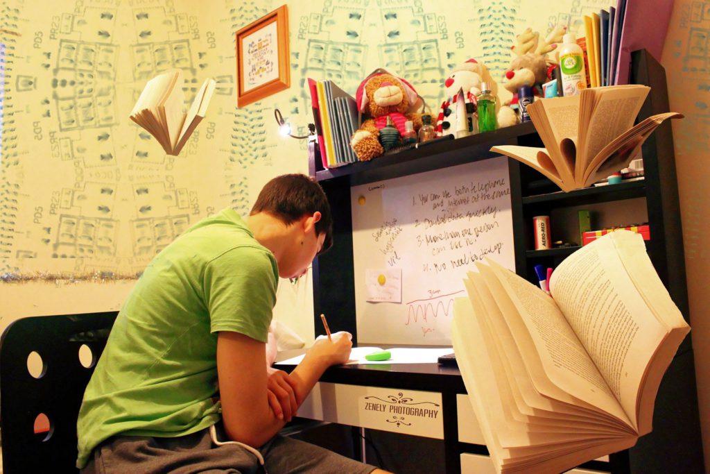 Teenager Preparing for Exams