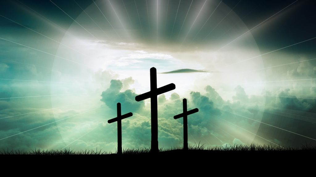 Three Crosses - Light Shines from Heaven