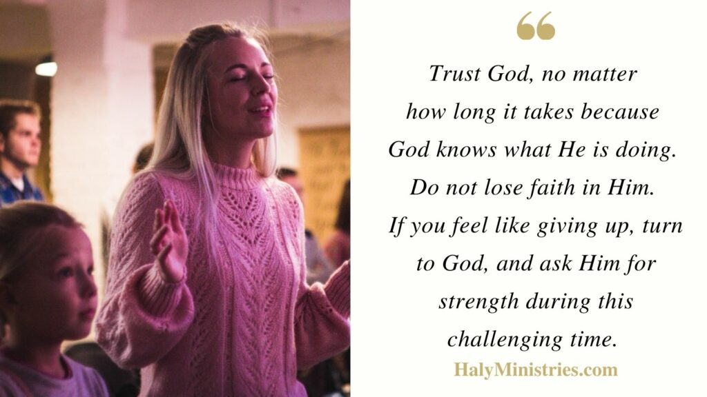 Trust Gods Timing - Haly Ministries Quote