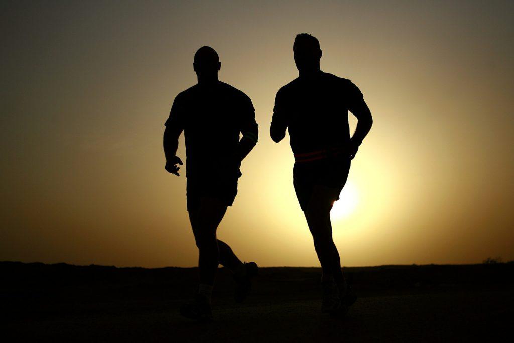 Two Men - Runners