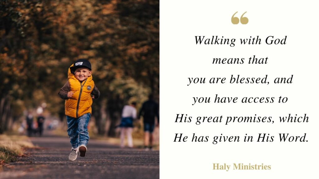 Walking with God Quote - Boy Walking on Road