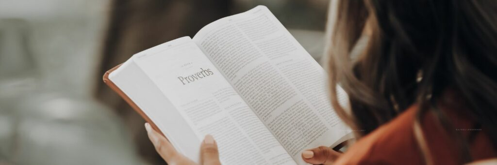 Woman Reading Bible - Proverbs